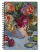 Chardonnay And Roses Spiral Notebook