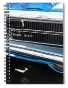 Charger 500 Front Grill And Emblem Spiral Notebook