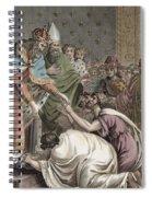 Charlemagne Receives The Ambassadors Spiral Notebook
