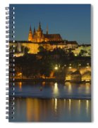 Charles Bridge And Prague Castle At Dusk  Spiral Notebook