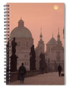 Charles Bridge At Dusk With The Church Spiral Notebook