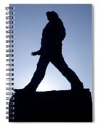 Charles De Gaulle Statue Silhouette On The Champs Elysees In Paris France Spiral Notebook