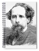 Charles Dickens, English Author Spiral Notebook