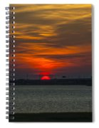 Charleston Sc Sunset Spiral Notebook