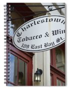 Charleston Tobacco And Wine Sign Spiral Notebook