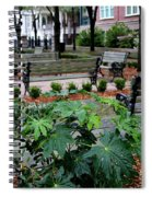 Charleston Waterfront Park Benches Spiral Notebook