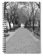 Charleston Waterfront Park Walkway - Black And White Spiral Notebook