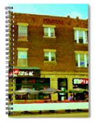 Charlevoix Pizza Et Chic Regal Rue Centre Scenes De Rue Pointe St Charles City Scenes Carole Spandau Spiral Notebook