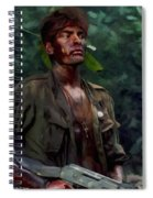 Charlie Sheen In Platoon Spiral Notebook