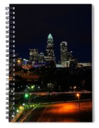 Charlotte Nc At Night Spiral Notebook