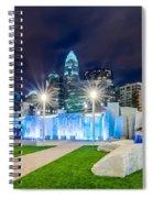 Charlotte Skyline Behind Romare Bearden Park Spiral Notebook