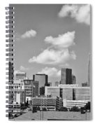 Charlotte Skyline In Black And White Spiral Notebook