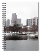 Charlotte Skyline In Snow Spiral Notebook