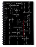 Charlottetown Prince Edward Island Landmarks Spiral Notebook