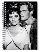 Charlton Heston And Marina Berti Spiral Notebook