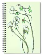 Charming Cotton Bolls Spiral Notebook