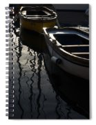 Charming Old Wooden Boats In The Harbor Spiral Notebook