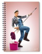 Charwoman On Pink Spiral Notebook