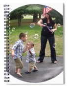 Chasing Bubbles Spiral Notebook