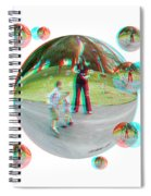 Chasing Bubbles - Red/cyan Filtered 3d Glasses Required Spiral Notebook