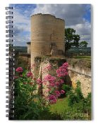 Chateau Chinon In The Loire Valley Spiral Notebook
