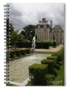 Chateau De Cheverny With Garden Fountain Spiral Notebook