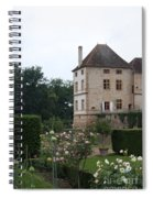 Chateau De Cormatin - Burgundy Spiral Notebook