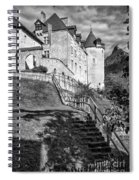 Chateau De Gruyeres Bw Spiral Notebook