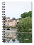 Chateau De Sercy - Burgundy Spiral Notebook