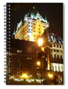 Chateau Frontenac At Night Spiral Notebook