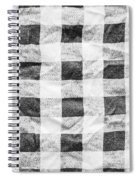 Checked Cloth Spiral Notebook