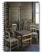 Checker Game Setting In A Back Room No. 3105 Spiral Notebook