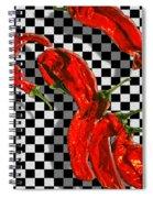 Checker Peppers Spiral Notebook