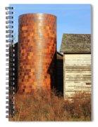 Checkerboard Silo Spiral Notebook