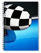 Checkered Finish Spiral Notebook