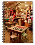 Checkers At Jefferson General Store Spiral Notebook