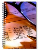 Checking Account Statement Spiral Notebook