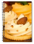 Cheddar Cheese On Crackers With Almonds Spiral Notebook