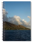 Cheerful Orange Catamaran And Diamond Head - Waikiki - Hawaii Spiral Notebook