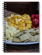 Cheese And Strawberries Spiral Notebook