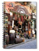 Cheese Salami And Wine Spiral Notebook