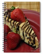Cheesecake With Strawberries Spiral Notebook