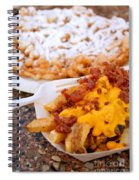 Cheesy Bacon Fries And Funnel Cake Spiral Notebook