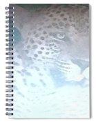 Cheetah Visits The Camp At Night Spiral Notebook