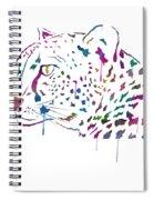 Cheetah Watercolor - White Spiral Notebook