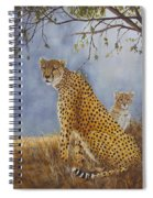 Cheetah With Cub Spiral Notebook