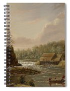 Cheevers Mill On The St. Croix River Spiral Notebook