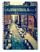 Chelsea Street As Seen From The High Line Park. Spiral Notebook