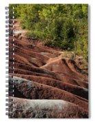 Mars On Earth - Cheltenham Badlands Ontario Canada Spiral Notebook