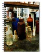 Chemistry - Assorted Chemicals In Bottles Spiral Notebook